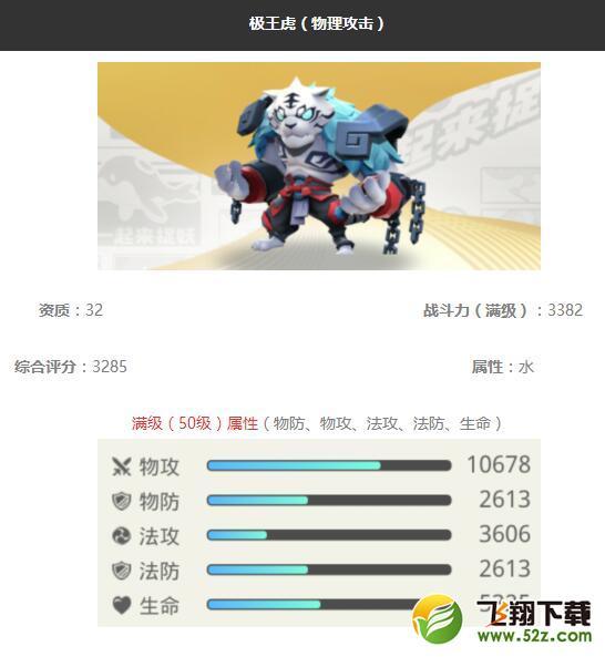 《一起来捉妖》极王虎妖灵图鉴_52z.com