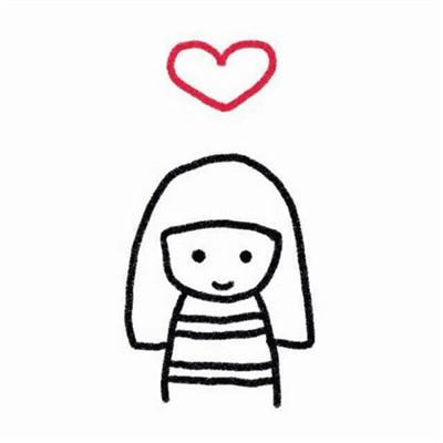 卡通白底小人情侣头像2019超级可爱 情侣头像一对两张卡通呆萌2019图片