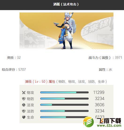《一起来捉妖》酒狐妖灵图鉴_52z.com