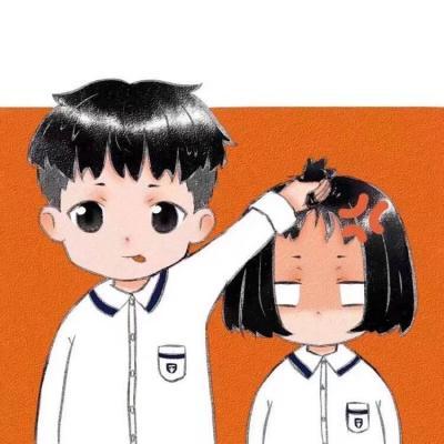 搞怪二次元情侣卡通微博头像两张 超搞怪的二次元卡通情侣头像_52z.com