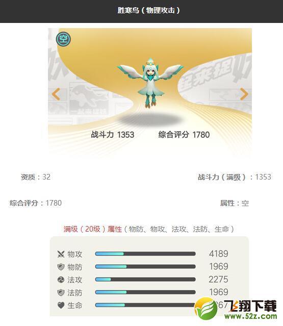 《一起来捉妖》胜寒鸟妖灵图鉴_52z.com