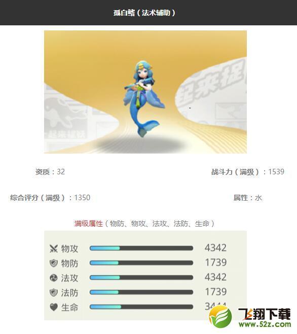 《一起来捉妖》孤白鳍妖灵图鉴_52z.com
