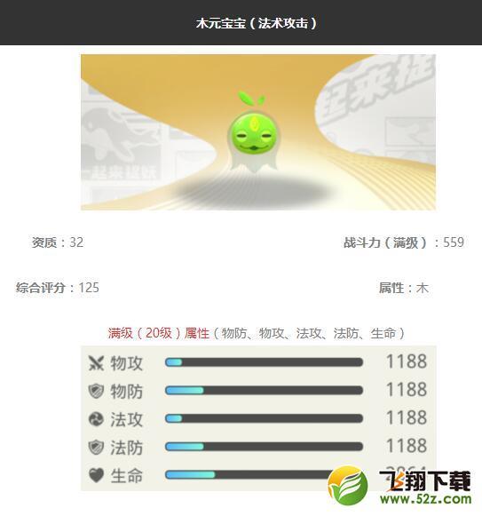 《一起来捉妖》木元宝宝妖灵图鉴_52z.com