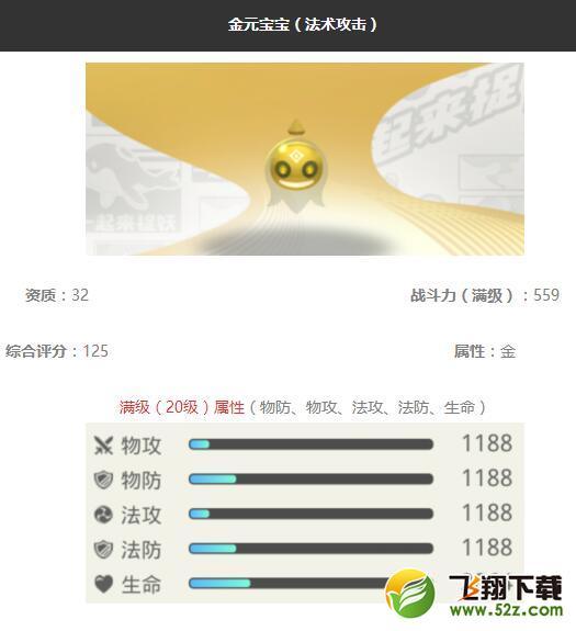 《一起来捉妖》金元宝宝妖灵图鉴_52z.com