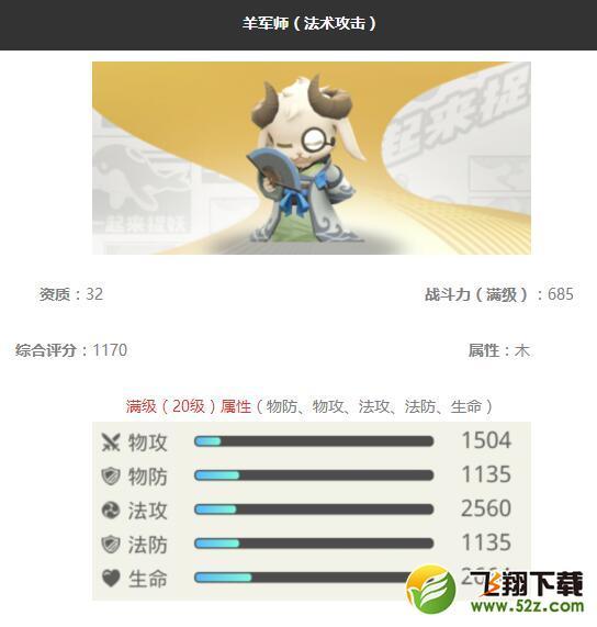 《一起来捉妖》羊军师妖灵图鉴_52z.com