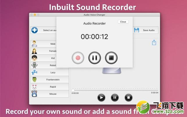 Audio Voice ChangerV1.0 Mac版_52z.com