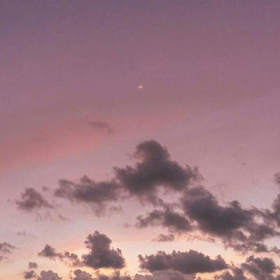 女生带好运的风景微信头像大全 好看的云朵头像吉利大全_52z.com