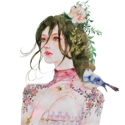 意境唯美美女微信素描头像2019 优美意境画报精选美女微信头像_52z.com