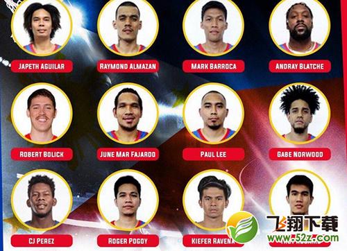 2019菲律宾男篮世界杯队伍阵容名单一览_52z.com