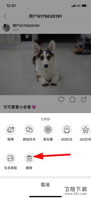 微博app绿洲删除发布的动态方法教程_52z.com