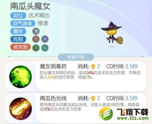 一起来捉妖南瓜头魔女技能属性一览_52z.com