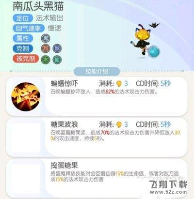 一起来捉妖南瓜头黑猫技能属性一览_52z.com