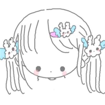 简单涂鸦可爱女孩子头像2019 可爱涂鸦少女头像2019精选