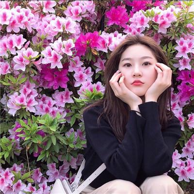 森系女生拿花遮脸头像2019精选 拿花遮脸唯美女生头像大全_52z.com