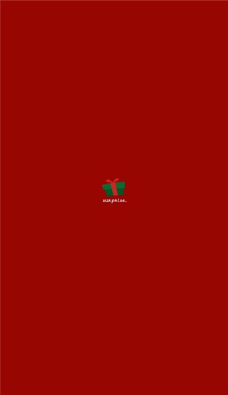 圣诞节手机壁纸红色图片 2019最新圣诞节壁纸简约可爱