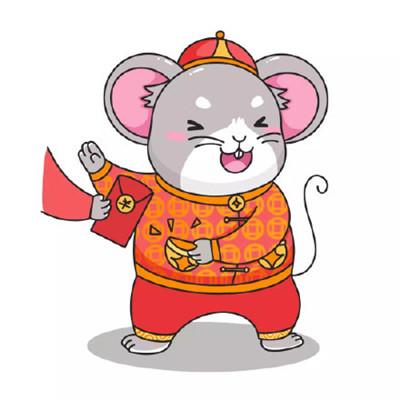 鼠年q版头像卡通可爱图片