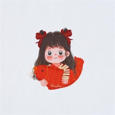 鼠年新年情侣头像一人一张2020 超级可爱呆萌情侣头像_52z.com