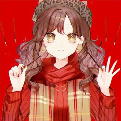 新年红色洋气女生萌头像精选 春节过年必备可爱卡通头像