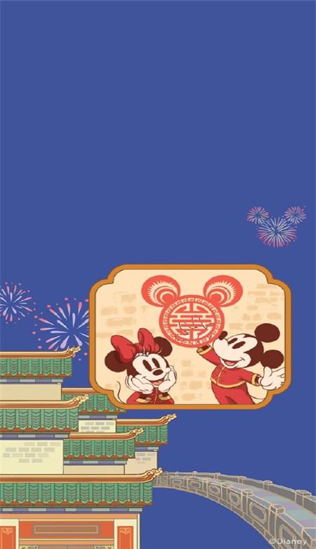 迪士尼米奇米妮鼠年新春壁纸 2020鼠年开运壁纸卡通可爱_52z.com图片