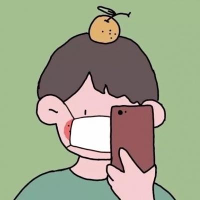 口罩情侣头像卡通一对 适合情侣的微信戴口罩头像_52z.com