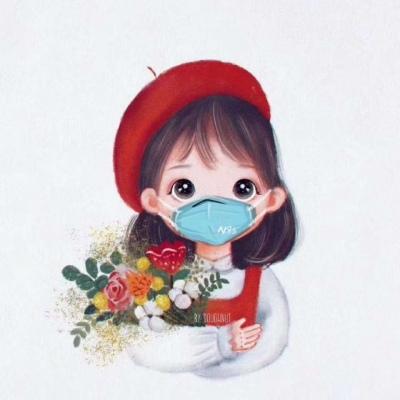 戴口罩QQ头像可爱合集 最新扣扣戴口罩卡通头像_52z.com