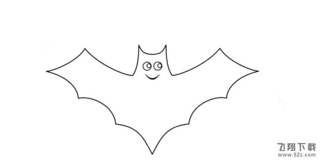 QQ画图红包蝙蝠画法教程
