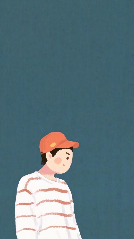 卡通版情侣聊天背景壁纸一对 最火聊天背景图情侣卡通一对_52z.com