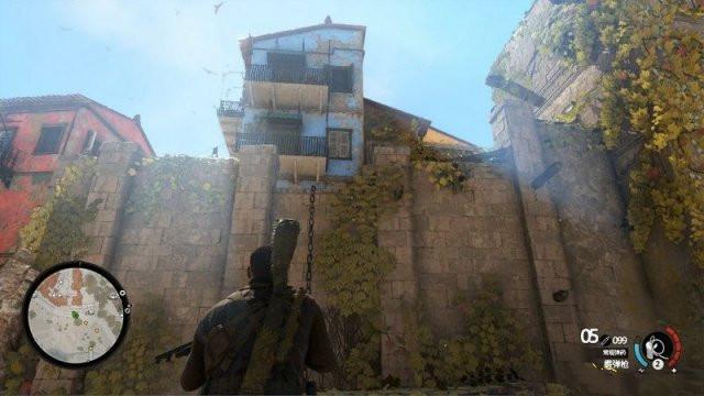 《狙击精英4》第二章格里塔位置介绍