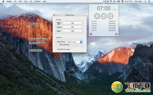 Menu StopwatchV1.3.1 Mac版_52z.com