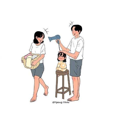理想中一家人的幸福模样图片_52z.com