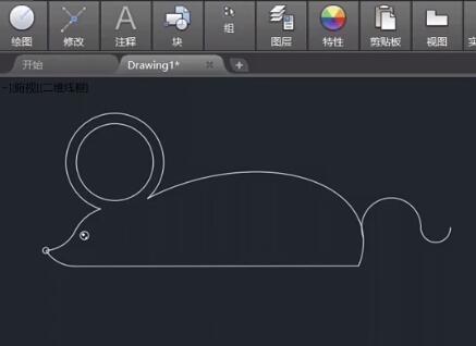 CAD新年练习图例视频 金鼠送给你