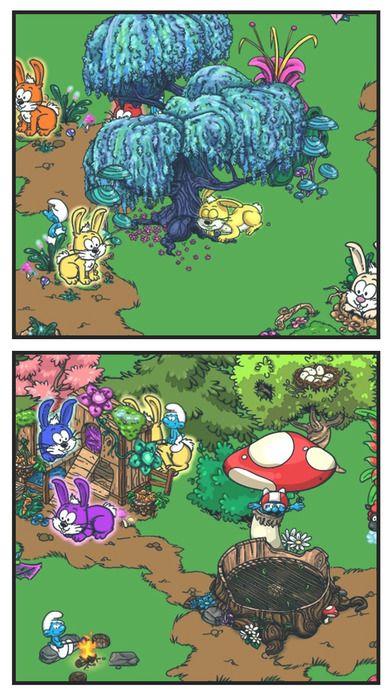 格格巫找到了蓝精灵村和散蓝精灵甚广。 Papa Smurf攻击的指导,它是由你来建立一个新的村庄,玩家开始游戏只有一个单一的蘑菇房子和一个孤独的犁地皮。